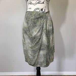 MaxMara silk wrap skirt.